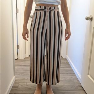 Aritzia Wilfred striped pants